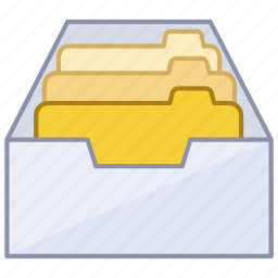 cabinet, drawer, files, filing, folders, information, user icon