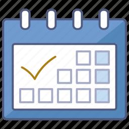 calendar, day, desk, organizer, planner, schedule, scheduler icon