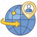 find, global business, international, job, recruit, recruitment, search icon