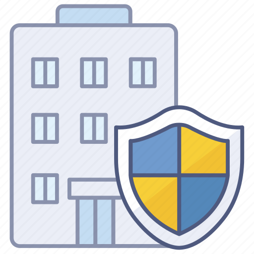 building, guard, premises, protected, protection, safe, security icon