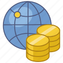 economy, exchange, exchange rate, global, international, rate, world icon