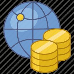 economy, exchange, exchange rate, global, international, rate, world icon