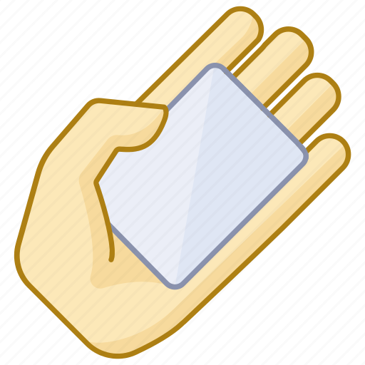 business, business card, company, credit, hand, ticket, transport icon