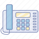 fixed, land, landline, line, office, phone, telephone icon