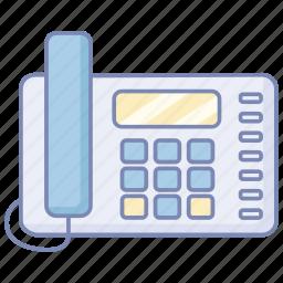 fixed, land, landline, line, office, phone, telephone icon
