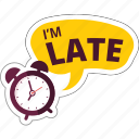 business, clock, late, network, social, time icon