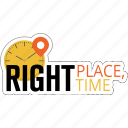 business, location, place, strategy, time icon