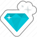 diamond, important, jewelry, network, social, treasure, vip icon