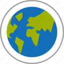 business, destination, earth, globe, location, map, social network icon