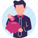 bank, business, dollar, money, piggy bank icon