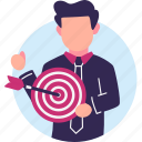 achievement, archery, arrow, business, goal, target icon
