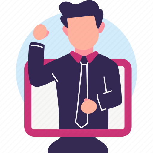 Business, businessman, manager, meeting, online icon - Download on Iconfinder