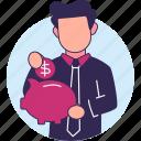 money, coins, storage, dollar, saving money, pig storage