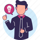 creativity, idea illustrations, ideas, lights, opportunities, solution icon
