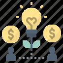 crowdfunding, foundation, fund, idea, startup icon