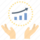 business, consult, development, growth, startup icon