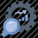 business, investigate, process, research, statistic icon