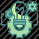 bulb, business, cogwheel, development, idea, innovation, technology