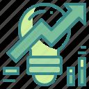 arrow, business, creativity, graph, grow, idea, trend