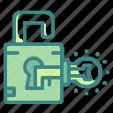 bulb, business, idea, key, lock, thinking, unlock icon