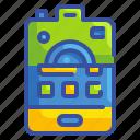 camera, diversity, combination, phone, use, business, innovation icon