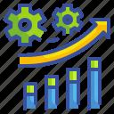 arrow, business, graph, grown, progressive, stat, technology icon
