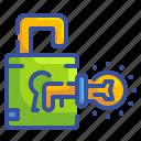 bulb, business, idea, key, lock, thinking, unlock