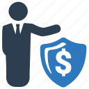 business, protection, security, shield icon