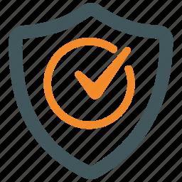 protection, security, sheild, trust, verification, verified, verify icon