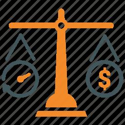 businessman, clock, dollar, management, money, project budget estimate, time icon