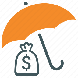 financial, fund, insurance, money, protection, provident fund, savings icon