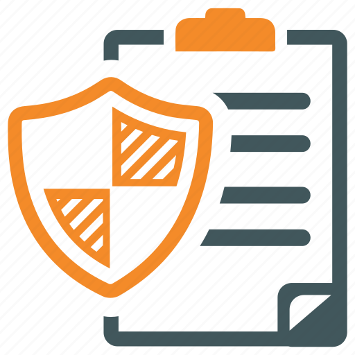 document, important document, protection, shield icon