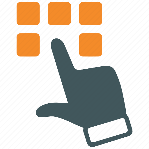 cursor, dial, hand, keypad, telephone icon