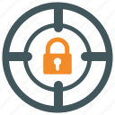 authentication, goal, protection, secure, security, shield, target icon