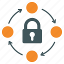 connections, firewall, internet gate, lock, network protection, relations, security administration icon