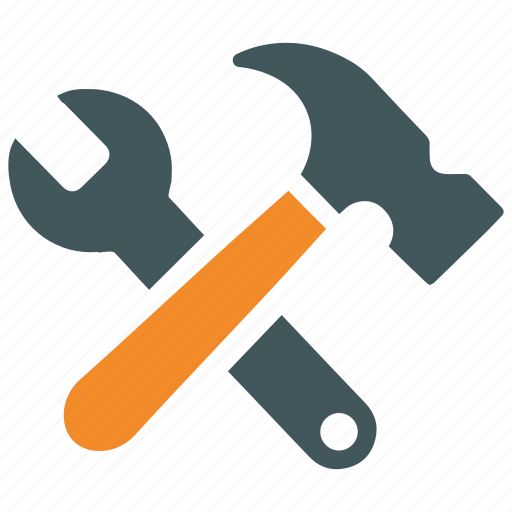 build, diy, hammer, project, repair, settings, tools icon