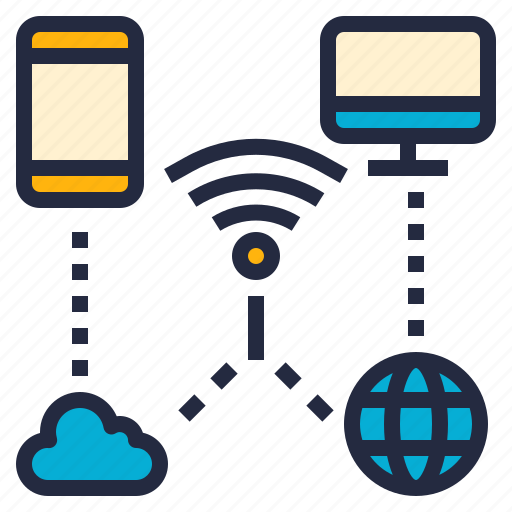 business, cloud, computer, it, network, phone, wifi icon