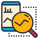analytics, application, business, graph, intelligence, prediction, research icon