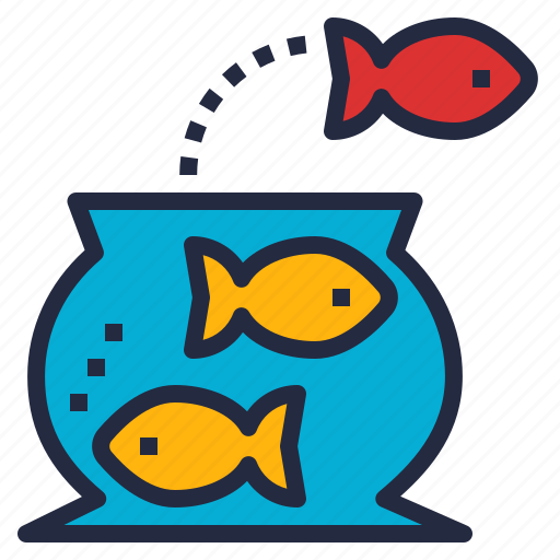 bow, business, challenges, difficult, effort, fish, risk icon