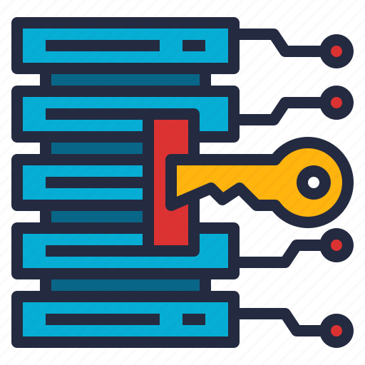 access, business, data, database, key, store, system icon