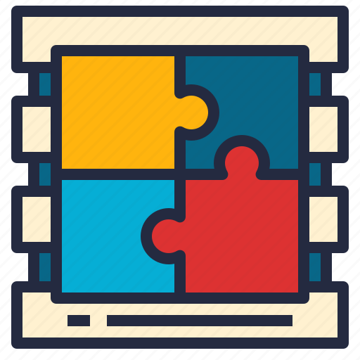 business, combination, data, database, integration, model, puzzle icon