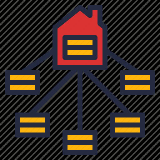 business, data, intelligence, mart, simplify, store, warehouse icon