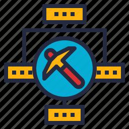 business, data, information, intelligence, mining, process, relationship icon