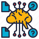analytics, brain, business, data, information, intelligence, predictive icon