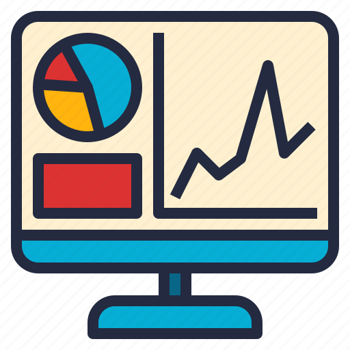business, computer, graph, report, software, visualization icon