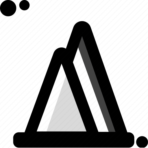 business, chart, peaks icon