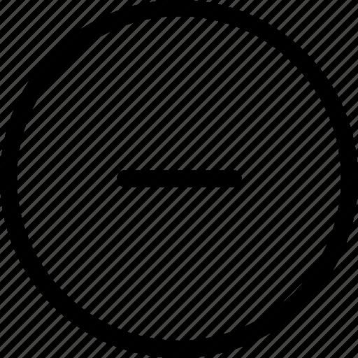less, minimize, minus, substract icon