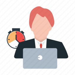 administrator, executive, office, schedule, time, user, workload icon