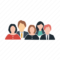 business, colleagues, office, officials, people, staff, workers icon
