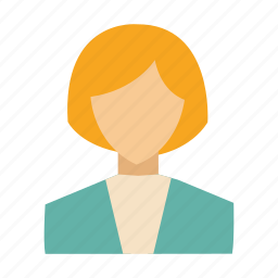 account, administrator, avatar, profile, user, woman, worker icon